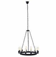 """Teleport 29"""" Chandelier, Brown [FREE SHIPPING]"""