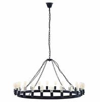 """Teleport 52"""" Chandelier, Brown [FREE SHIPPING]"""