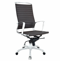 Tempo Highback Office Chair, Brown [FREE SHIPPING]
