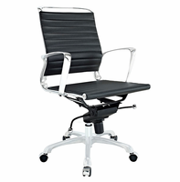 Tempo Mid Back Office Chair, Black [FREE SHIPPING]