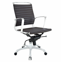 Tempo Mid Back Office Chair, Brown [FREE SHIPPING]