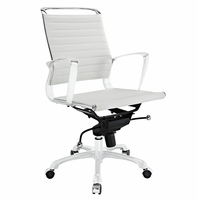 Tempo Mid Back Office Chair, White [FREE SHIPPING]