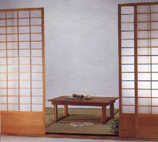 The Shoji Sliding Doors Set  w / Rail