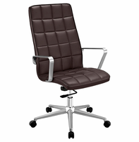 Tile Highback Office Chair, Brown [FREE SHIPPING]