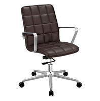Tile Office Chair, Brown [FREE SHIPPING]