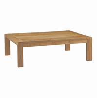 Upland Outdoor Patio Wood Coffee Table, Natural [FREE SHIPPING]