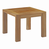 Upland Outdoor Patio Wood Side Table, Natural [FREE SHIPPING]