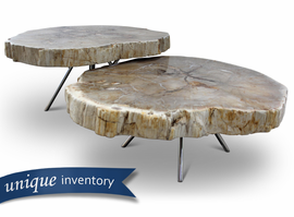 URBIA Furniture Elements Lastra Nesting Coffee Table (Set of 2) Natural Light