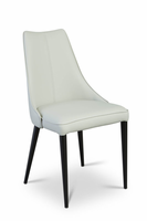 URBIA Furniture Metro Auwell Dining Chair Taupe Gray Set of 2