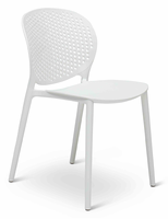 URBIA Furniture Metro Bailey Side Chair White Set of 2