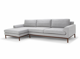 URBIA Furniture Metro Carter Chaise Sectional, LAF Light Gray
