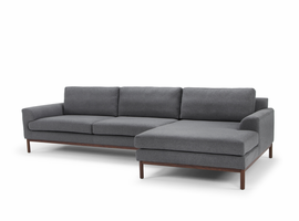 URBIA Furniture Metro Carter Chaise Sectional, RAF Light Gray