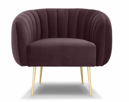 URBIA Furniture Metro Channeled Accent Chair Plum Purple