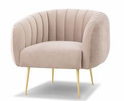 URBIA Furniture Metro Channeled Accent Chair Rosa Pink