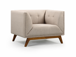 URBIA Furniture Metro Clark Accent Chair Natural
