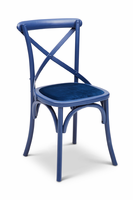 URBIA Furniture Metro Nimes Side Chair Cerulean Blue /Blue Set of 2