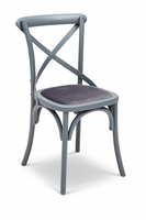 URBIA Furniture Metro Nimes Side Chair Gray /Gray Set of 2