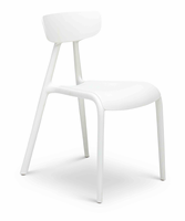 URBIA Furniture Metro Perry Side Chair White Set of 4