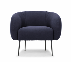 URBIA Furniture Metro Sepli Accent Chair Navy Blue