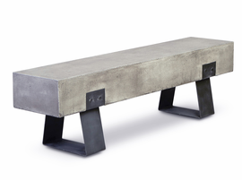 URBIA Furniture Mixx Industrial Bench Dark Gray