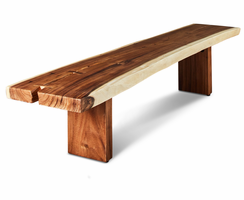 URBIA Furniture Naturals 7' Freeform Bench Natural