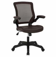 Veer Vinyl Office Chair, Brown [FREE SHIPPING]