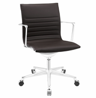 Vi Mid Back Vinyl Office Chair, Brown [FREE SHIPPING]