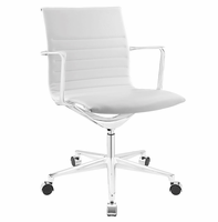Vi Mid Back Vinyl Office Chair, White [FREE SHIPPING]