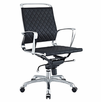 Vibe Mid Back Leather Office Chair, Black [FREE SHIPPING]