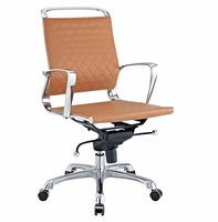 Vibe Mid Back Leather Office Chair, Tan [FREE SHIPPING]