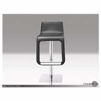 Vida Hydraulic Stool In Black Leather