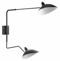 View Double Fixture Wall Lamp, Black [FREE SHIPPING]