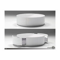 Viva Coffee Table With Drawer High Gloss White And White Glass Top