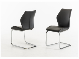 Welles - Modern Black Leatherette Dining Chair (Set of 2)