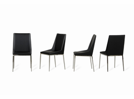 Wesley - Modern Black & Grey Dining Chair (Set of 4)