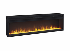 Entertainment Accessories - W100-22 - Wide Fireplace Insert - Black