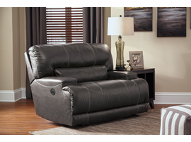 Ashley Furniture Wide Seat Power Recliner, Gray