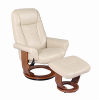 Windsor Ultra Synthetic, Stucco, Swivel Recliner Chair & Ottoman