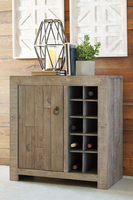 Ashley Express Furniture - Forestmin - A4000063 - Wine Cabinet, Gray