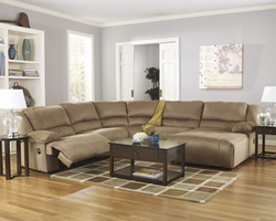 Ashley Furniture Zero Wall Armless Recliner, Mocha