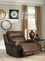 Ashley Furniture Zero Wall Power Wide Recliner, Brown