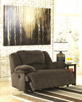 Ashley Furniture Zero Wall Power Wide Recliner, Chocolate