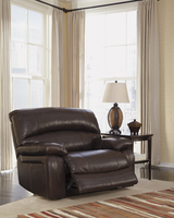 Ashley Furniture Zero Wall Power Wide Recliner, Dark Brown