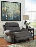 Ashley Furniture Zero Wall Power Wide Recliner, Gray