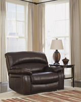 Ashley Furniture Zero Wall Wide Seat Recliner, Dark Brown
