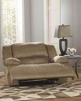 Ashley Furniture Zero Wall Wide Seat Recliner, Mocha