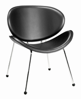 Zuo Modern Match Chair Black, Set of 2