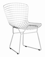 Zuo Modern Wire Dining Chair Chrome, Set of 2