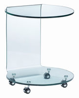 Zuo Modern Mission Side Table Clear Glass