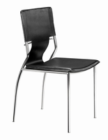 Zuo Modern Trafico Dining Chair Black, Set of 4